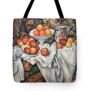 Apples And Oranges Tote Bag by Paul Cezanne