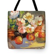 Apples And Peonies Tote Bag