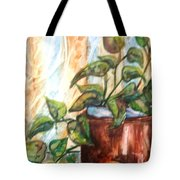 Apples And Plant Tote Bag