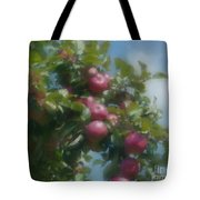 Apples And Sky Tote Bag