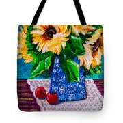 Apples  Sunflowers Tote Bag