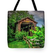 Approach To Hunseckers Mill Bridge Tote Bag