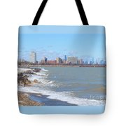 Approaching Chicago Tote Bag