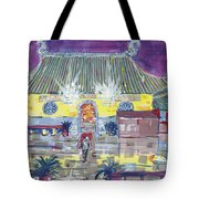 Approaching Dongwu Temple On Chinese New Years Eve Tote Bag