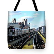 Approaching Myrtle Avenue Tote Bag