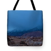 Approaching Snow Storm Tote Bag