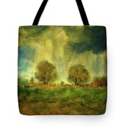 Approaching Storm At Antietam Tote Bag by Lois Bryan