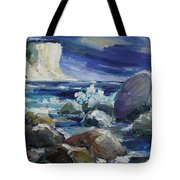 Approaching Storm At Kap Arkona Tote Bag