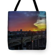 Approaching Storm At Sunset Tote Bag