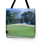 Approaching The 18th Green Tote Bag