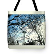 Approaching The Space Needle  Tote Bag