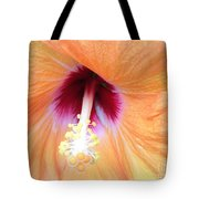 Apricot Hibiscus Flower Tote Bag