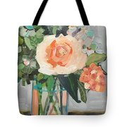Apricot Rose Tote Bag