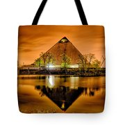 April 2015 - The Pyramid Sports Arena In Memphis Tennessee Tote Bag