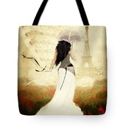 April In Paris Tote Bag by Shanina Conway