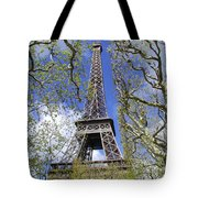 April In Paris Tote Bag