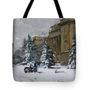 April Snow By The Nacc Tote Bag