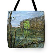 April Willow On Milwaukee River Tote Bag