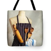 Apron With Utensils Tote Bag