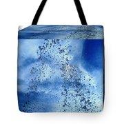 Aqua Art Cube Tote Bag