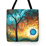 Aqua Burn By Madart Tote Bag