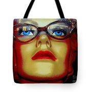 Aqua Eyed Angie Tote Bag