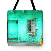 Aqua House Tote Bag