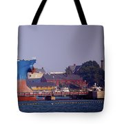 Aqua In Dock Tote Bag
