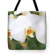 Aqua Lilies Tote Bag