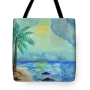 Aqua Sky Ocean Scene Tote Bag