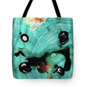 Aqua Teal Art - Volley - Sharon Cummings Tote Bag