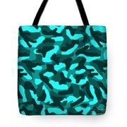 Aqua Turquoise Teal Blue Camo Camouflage  Tote Bag