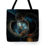 Aqua Wormholes Tote Bag