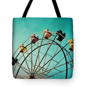 Aquamarine Dream - Ferris Wheel Art Tote Bag