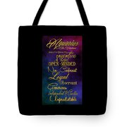 Aquarius Tote Bag by Mamie Thornbrue