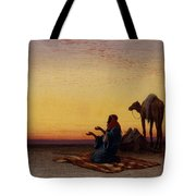 Arab At Prayer Tote Bag