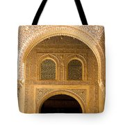 Arabesque Ornamental Designs At The Casa Real In The Nasrid Palaces At The Alhambra Tote Bag