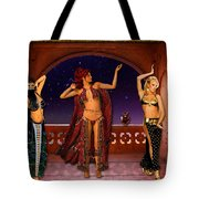 Arabic Dancers Tote Bag