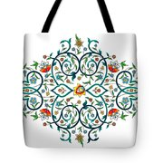 Arabic Floral Ornament Tote Bag