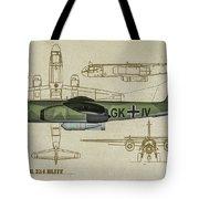 Arado Ar234b-2 - Profile Art Tote Bag