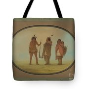 Arapaho Chief, His Wife, And A Warrior Tote Bag
