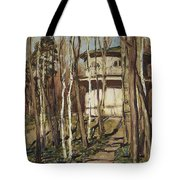 Arbour On The Mound Former Naydenovsky Park Moscow 1920 Apollinaris M Vasnetsov Tote Bag