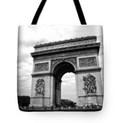 Arc De Triomphe In Black And White Tote Bag