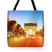 Arc De Triomphe, Paris, France Tote Bag