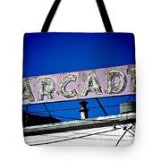 Arcade Vintage Sign Tote Bag