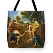 Arcadian Shepherds Tote Bag by Nicolas Poussin