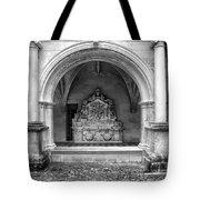 Arch At Fontevraud Abbey Bw Tote Bag