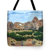 Arch In Landscape Tote Bag