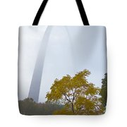 Arch In The Fog Tote Bag