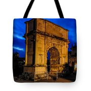 Arch Of Titus In Rome Tote Bag
